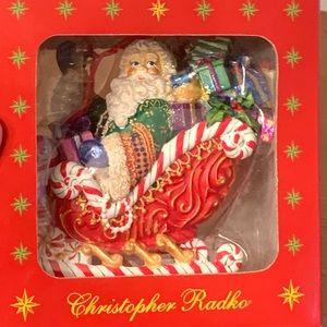 "Christopher Radko ""Candy Ride Santa II"" Ornament"